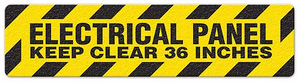"Electrical Panel Keep Clear 36 Inches (6""x24"") Anti-Slip Floor Tape"