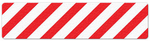 "Hazard Stripe (6"" x 24"") Red/White Anti-Slip Floor Tape"