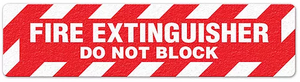 "Fire Extinguisher Do Not Block (6""x24"") Anti-Slip Floor Tape"