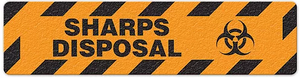 "Sharps Disposal (6""x24"") Anti-Slip Floor Tape"