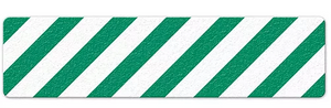 "Hazard Stripe (6"" x 24"") Green/White Anti-Slip Floor Tape"