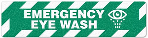 "Emergency Eye Wash (6""x24"") Anti-Slip Floor Tape"