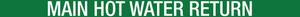 Main Hot Water Return Pipe Label