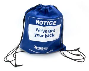 Notice: We've Got Your Back - Creative Safety Supply Back Pack