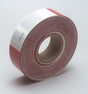 3M™ Diamond Grade™ Conspicuity Markings 983-326 Red/White, PN 67535, 2 in x 150 ft