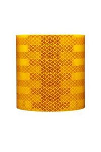 3M™ Diamond Grade™ Rail Car Markings 983-71 Yellow, FRA, 4 in x 50 yd, kiss-cut every 18 in
