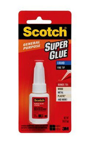 Scotch® Super Glue Liquid AD110, .18 oz bottle (12 EA)