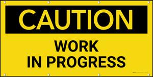 Caution Work in Progress Banner