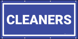 Cleaners Banner (Dark)