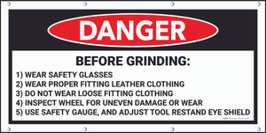 Danger Before Grinding Framed Banner