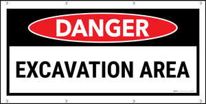 Danger Excavation Area Banner