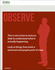 Gemba Observe, Poster