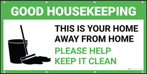 Good Housekeeping Please Help Keep It Clean with Icon Banner
