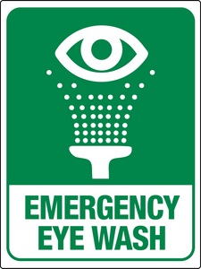 Emergency Eye Wash Station Large Wall Sign