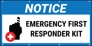 Notice Emergency First Responder Kit with Icon Banner