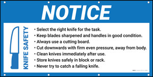 Notice Knife Safety Banner