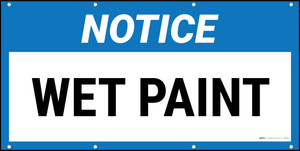 Notice Wet Paint Banner