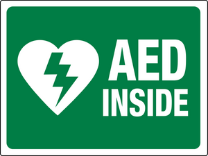 AED Inside Green and White Large
