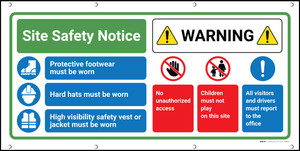 Site Safety Warning Banner