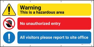 Warning Hazardous Area Banner