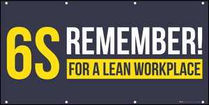 6S Remember! For A Lean Workplace Banner