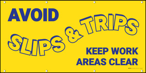 Avoid Slips And Trips Keep Work Areas Clear Banner