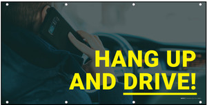 Hang up and Drive Image Background Banner