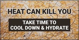Heat Stroke Can Kill Cool Down and Hydrate Banner