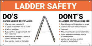 Ladder Safety Do's Dont's Banner