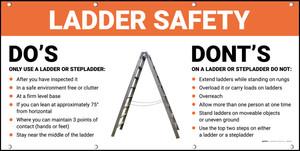 Ladder Safety Do's Dont's Banner
