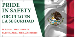 Pride In Safety Spanish Bilingual Banner