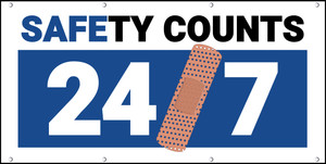 Safety Counts 24/7 Blue Banner