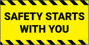 Safety Starts With You Yellow Banner