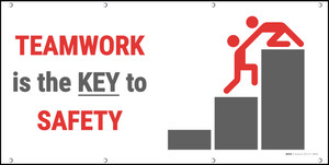 Teamwork is the KEY to Safety Banner