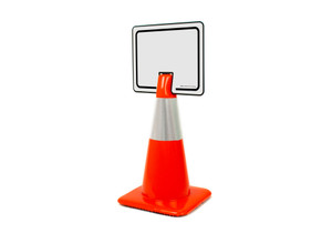 Blank White Clip-On Cone Sign