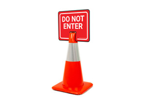 Do Not Enter Clip-On Cone Sign