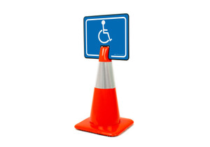 Handicapped Symbol Clip-On Cone Sign