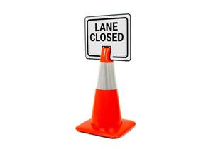 Lane Closed Clip-On Cone Sign
