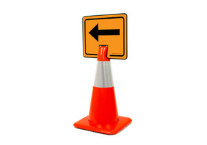Left Arrow Clip-On Cone Sign