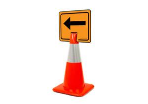 Left Arrow Clip-On Cone Sign