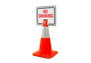 No Smoking Clip-On Cone Sign