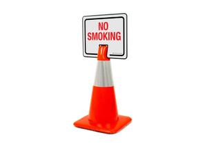 No Smoking Clip-On Cone Sign