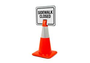 Sidewalk Closed Clip-On Cone Sign