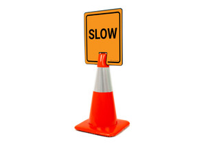 Slow Vertical Clip-On Cone Sign