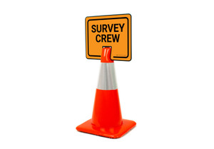 Survey Crew Clip-On Cone Sign