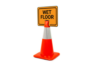 Wet Floor Clip-On Cone Sign