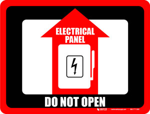 Electrical Panel Do Not Open Floor Sign