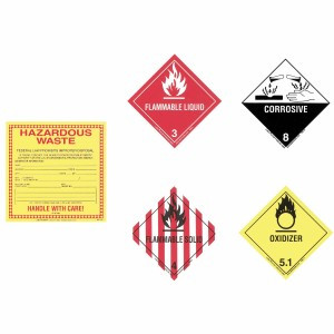 SpillTech Hazardous Labels 5 EA