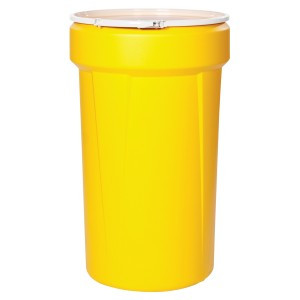 SpillTech 55 Gallon Open Head Poly Drum with Ring
