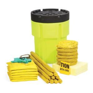 SpillTech HazMat 65-Gallon Hi-Viz OverPack Drum Spill Kit